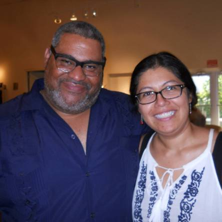 Elizabeth Zertuche with Chris Abani