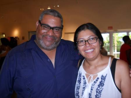 Elizabeth Zertuche with Chris Abani